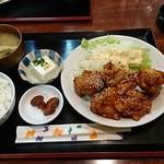 とも - 焼肉風からあげ定食:700円