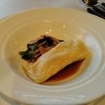 銀座清月堂 - [料理] 手長海老の湯葉巻き 赤ワイン ビネガーソース