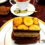 カフェカブトヤマ - 料理写真:ツマガリのケーキと紅茶