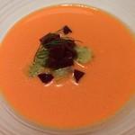 69177296 - 赤ピーマンの冷製クリームスープ