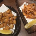 目利きの銀次 - 鶏のなんこつ揚げ、甘海老の唐揚げ