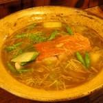 遊猿 - 金目鯛の紹興酒蒸し 干し貝柱と金針菜あんかけ