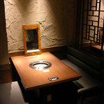 焼肉居酒家 韓の台所 - 半個室風のお席はデートにもぴったり!