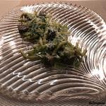 リナシメント - 牛タンのボッコンチーニとジェノヴェーゼのトロフィエ