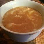 鶏そばヒバリ - キャベツの入った甘めのつけ汁