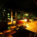 九州黒太鼓 - 高台から景色を楽しめるお座敷席。宴会や合コンなどに最適!