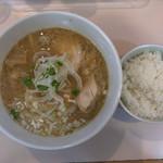 大木 - 鶏白湯800円 小ごはん100円