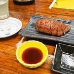 うどん蔵ふじたや - 米沢牛ステーキ & 日本酒(綿屋 特別純米)