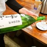 うどん蔵ふじたや - 日本酒(綿屋 特別純米)