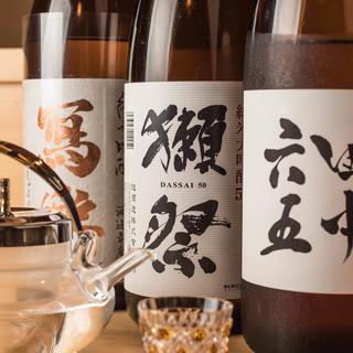 日本酒10種以上&プレミアム限定酒「作(ざく)」をご用意!