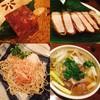 中島康三郎商店 - 料理写真:自家製コンビーフと浜田産トンカツ、 鴨南蛮そば、おろしそば(左上より時計周り)