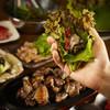 日南館 新館 - 料理写真:地鶏炭火焼のサムギョプサル
