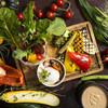 生野菜&グリル野菜とカポナータの盛り合わせ バーニャカウダーソース