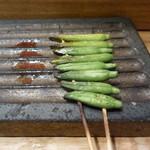 北浜 やきとり うえ田 - 金針菜