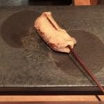 串揚げ 依知川 - 鳥つくねの油揚げ包み