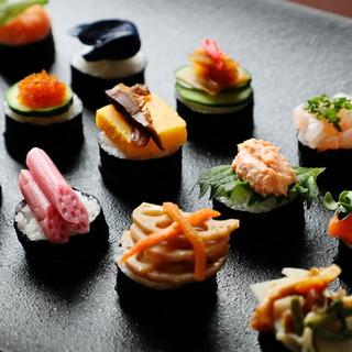 彩り手織り寿司
