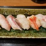 大将寿司 - 寿司ランチ 最初の5貫