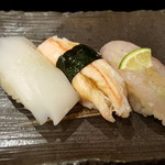 大将寿司 - 残りの3貫は、あっさり塩で