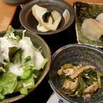 大将寿司 - サラダと小鉢