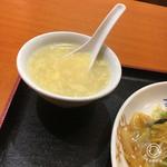 南国亭 - 卵スープ