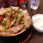 麺屋7.5Hz - 【再訪】チャーシュー麺(中)+白ごはん