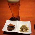 土佐の一風 - お通しと生ビール
