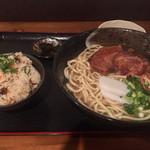 まーちゃん食堂 - ソーキそば定食960円