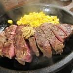 いきなりステーキ - 【ワイルドステーキ(300g) 1350円】(ライス・サラダ・スープ付き)