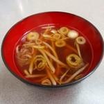 盛運亭 - ラーメン屋さんの定食のスープ