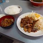 盛運亭 - 豚生姜焼定食(880円)