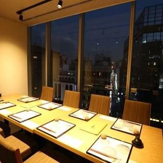 梅田パルビル最上階の景色を個室で!
