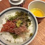 博多担々麺 とり田 - 明太卵かけご飯(博多満足セット)