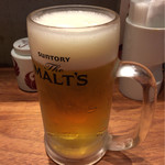 博多担々麺 とり田 - 生ビール