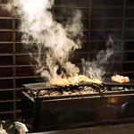 鶏天 - 料理写真:焼いてます(^○^)