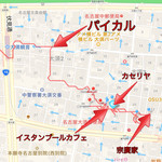パイカル - 当日の移動ログ。この店(パイカル)で食事した後、大須観音駅から地下鉄に乗って名古屋駅に向かった。