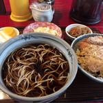 満留賀 - かつ丼セット 850円