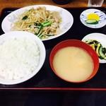 大明飯店 - 日替定食:野菜炒め(620円)