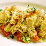 イタリア食堂 MARIA - トリッパの白ワイン煮じゃがいもとセロリのサラダ