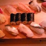銀鮨 - にぎり1.5人前(1050円)