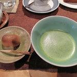 夢空間 はしまや - コレは抹茶・和菓子セット500円。
