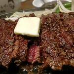 1ポンドのステーキハンバーグ タケル - 馬ステーキ。
