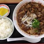 中華そば 春陽軒 - 肉入 大  ライス小  850円