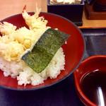 えび頼み - 「えび天丼」(390円税別)。別添えされている天つゆ。