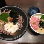 五穀 - 料理写真:梅おろし蕎麦&ネギトロ丼ミニ