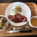 肉のじゃすとみーと - ローストビーフ丼&ローストビーフステーキセット
