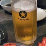 北海道ジンギスカン 北ジン - ビールはSAPPORO