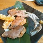 加吉 - 料理写真:鴨焼き