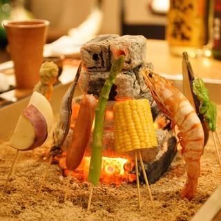 炭の良い香り!【炉端焼き】で素材の美味しさを丸ごとガブリ☆