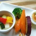 カフェきりき - 添えられた野菜