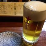とり健 - 焼き鳥にはやっぱり生ビール!